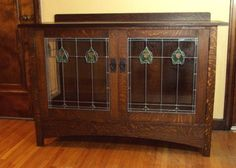 Buffet in the Arts and Crafts Style | BOOM GLASS ART