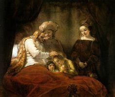 Rembrandt: Jacob bendice a los hijos de José, 1656.