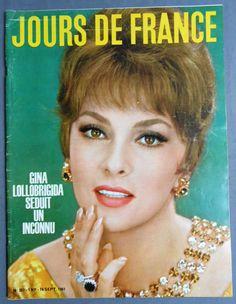 ►JDF 357 1961 Gina Lollobrigida Claudia Cardinale LIZ Taylor Eddie Fisher | eBay