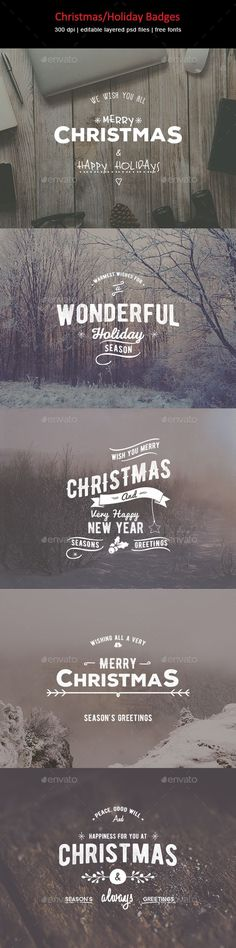 Creative badges for your holiday design.