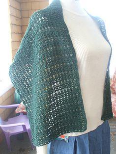 Lacey Jade Wrap - free crochet pattern by Cheryl Frye.