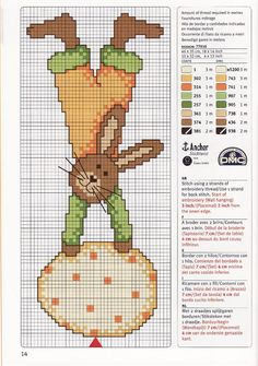 Easter bunny egg cross stitch