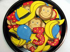 curious george birthday cookies