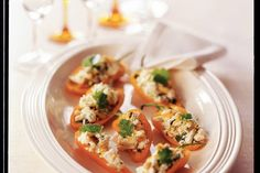 Gevulde paprika's - Recept - Allerhande Feta, Potato Salad, Cauliflower, Appetizers, Cooking Recipes, Chicken, Dinner, Vegetables, Breakfast
