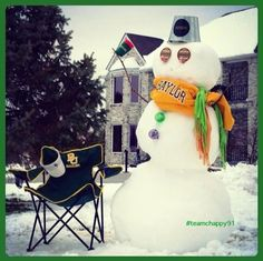A snowy #SicEm from Illinois! (via kchappy70 on Instagram)