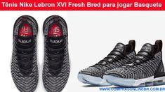 9c015e0bd0 Tênis Nike Lebron XVI Fresh Bred para jogar Basquete ! Se prepare para  partidas intensas nas quadras. Este é um Tênis para jogos de basquete de  verdade