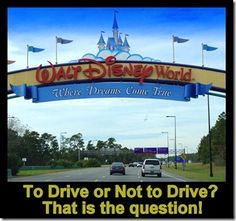 Getting There - Driving vs. Flying to Walt Disney World - Travel With The Magic Disney World 2015, Disney World Christmas, Disney World Planning, Walt Disney World Vacations, Disney Parks, Disney Travel, Disney World Tips And Tricks, Disney Tips, Disney Magic