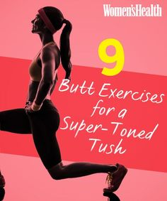 Best Workout Plans : 9 Butt Exercises for a Super-Toned Tush. - All Fitness Fitness Workouts, Fitness Motivation, Butt Workouts, Glute Exercises, Body Fitness, Fitness Diet, Health Fitness, Women's Health, Fitness Gear