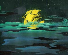 have to hang up a large painting like this in my house one day - peter pan