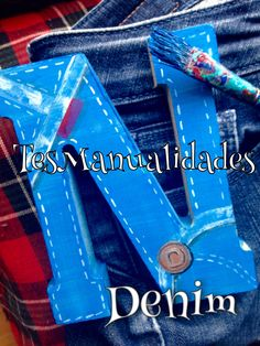 Denim Like painted letters by TesManualidades