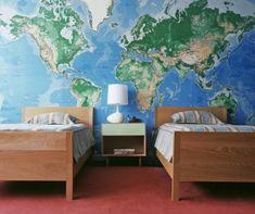 Papel mural en la pared principal de tus habitaciones se ve espectacular.