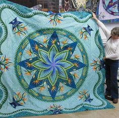 Paradise in Blooms, Quiltworx.com, Made by Leslie McDowell