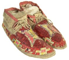 Sioux Quilled Moccasins, c.1900.