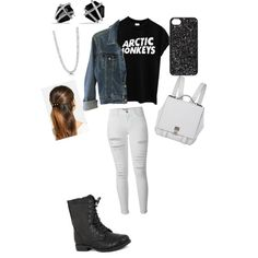 Arctic Monkeys by sunnymuffins96 on Polyvore featuring polyvore, fashion, style, Theory, Frame Denim, Pierre Dumas, Proenza Schouler, David Yurman, BERRICLE, L. Erickson and MARC BY MARC JACOBS