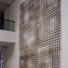 Beat Zoderer, Raster Aquarell, 2012 672 x 463 cm, Wandinstallation aus Armierungsmatten
