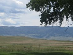 A view to the mountains from Edness Kimball Wilkins (called locally EKW) State Park, near Casper, Wyoming