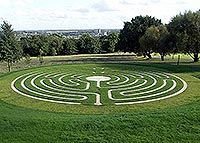The Canterbury Labyrinth - shows steps of construction