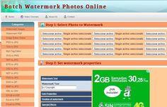 Watermark Images es una utilidad web gratuita para insertar marcas de agua a imágenes y documentos PDF. También sirve para convertir entre múltiples formatos de archivos.