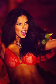 Skinny and Tall Models — Adriana Lima at Victoria's Secret Fashion Show