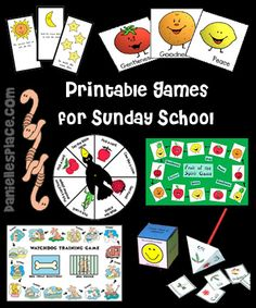 Printable Bible Games for Sunday School from www.daniellesplace.com. Great to use as inspiration. Lots of bible verse review ideas. To print you must be a paying member.