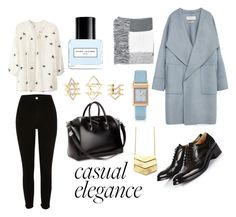 """""""casual elegance"""" by dalma-pothorszki ❤ liked on Polyvore featuring Zara, Church's, River Island, WithChic, Givenchy, Topshop, Charlotte Russe, Marc Jacobs and Trussardi"""