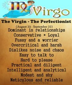 zodiac signs - virgo - the perfectionist