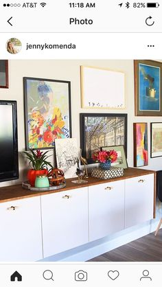Do it yourself floating IKEA Hack sideboard – Juniper Home – Regular Clean Kitchen Cabinets Ikea Diy, Best Ikea, Ikea Hack, Upper Kitchen Cabinets, Ikea, Ikea Cabinets, Credenza Ikea, Floating Cabinets, Upper Cabinets
