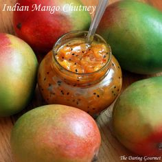 Sweet and spicy homemade Mango Chutney. Delicious as a spread, dip, or used in a variety of Indian curries and dishes.