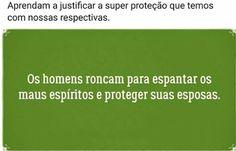 Diário de um Gaúcho Grosso: PORQUE OS HOMENS RONCAM?