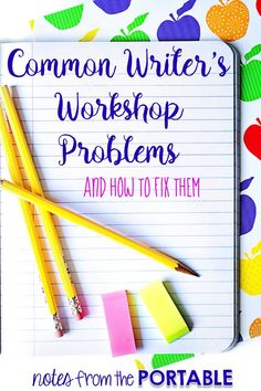 Great ideas on fixing writer's workshop problems. Makes our writing time run a lot smoother. Writing Lessons, Writing Resources, Teaching Writing, Writing Activities, Teaching Tips, Writing Ideas, Creative Writing, Student Teaching, Writing Help