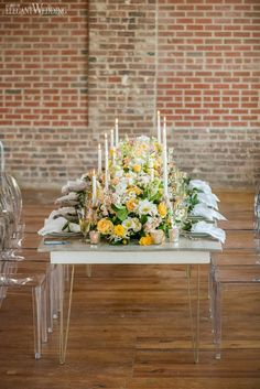 Colorful spring wedding theme inspiration | ElegantWedding.ca Wedding Theme Inspiration, Table Setting Inspiration, Head Tables, Wedding Place Settings, Wedding Receptions, Spring Wedding, Wedding Centerpieces, Colorful, Table Decorations