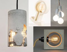 rocking lamp Kazauka - hanging lamp designed by Jakub Velisky via Crowdy House - Nomad concrete lamp UNIiKATshop