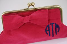 Monogrammed Corduroy Clutch by SouthernBeaus on Etsy, $55.00