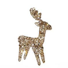 """Kurt Adler 12"""" Lighted Sequin LED Standing Deer"""