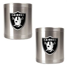 Oakland Raiders Stainless Steel Can Drink Holders