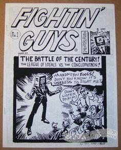 Fightin' Guys Annual #1 Underground Comix Matt Feazell, Clark Dissmeyer Mini 1983 #MattFeazell #minicomics