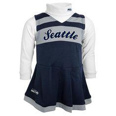 Seattle Seahawks Cheerleader Jumper Set - Toddler