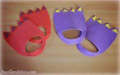 DIY fabriquer des pieds de monstres ou dinosaures (brico enfant, anniversaire) avec feuilles de mousse