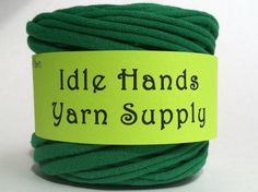 Green Tarn Recycled T Shirt Yarn  3725 by IdleHandsYarnSupply, $6.59