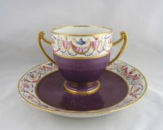 FRENCH CUP & SAUCER-SEVRES STYLE MARK