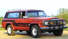 1981 Jeep Cherokee Chief with Brush Guard.