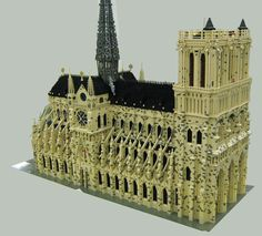 Bonjour! Teach your kids about travel and France with legos! It's okay if the end result isn't like this.  :-)  Just make it fun. #travel #paris www.MyFamilyTravels.com  LEGO Notre Dame de Paris