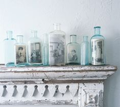 Old photographs in old bottles.  Perfect.