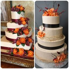 Fall inspired wedding cakes