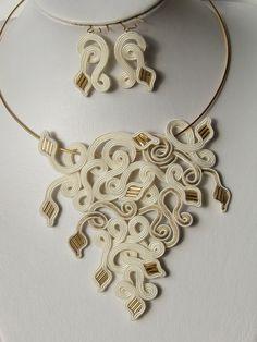 """pendientes collar de ornamento trenza """"serpentina"""""""
