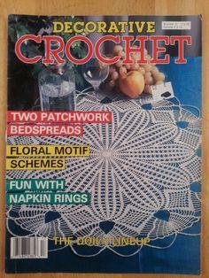 Decorative Crochet magazine 1990 Number 17 by Noahslady4Patterns, $4.25