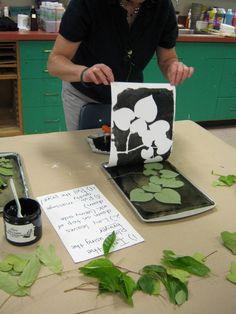 Art in the Big Green Room: Teacher Workshop: Gelatin Prints