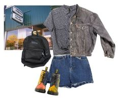 """coney island"" by junk-food ❤ liked on Polyvore featuring MANGO, Levi's and Dr. Martens"