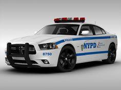 Dodge Charger NYPD Police Car 2013 3D Model .max .obj .3ds .fbx - CGTrader.com
