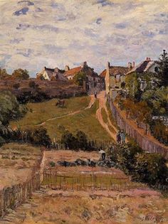 """The Rising Path""  --  1875  --  Alfred Sisley  --  British & French  --  Oil on canvas  --  Private Collection."